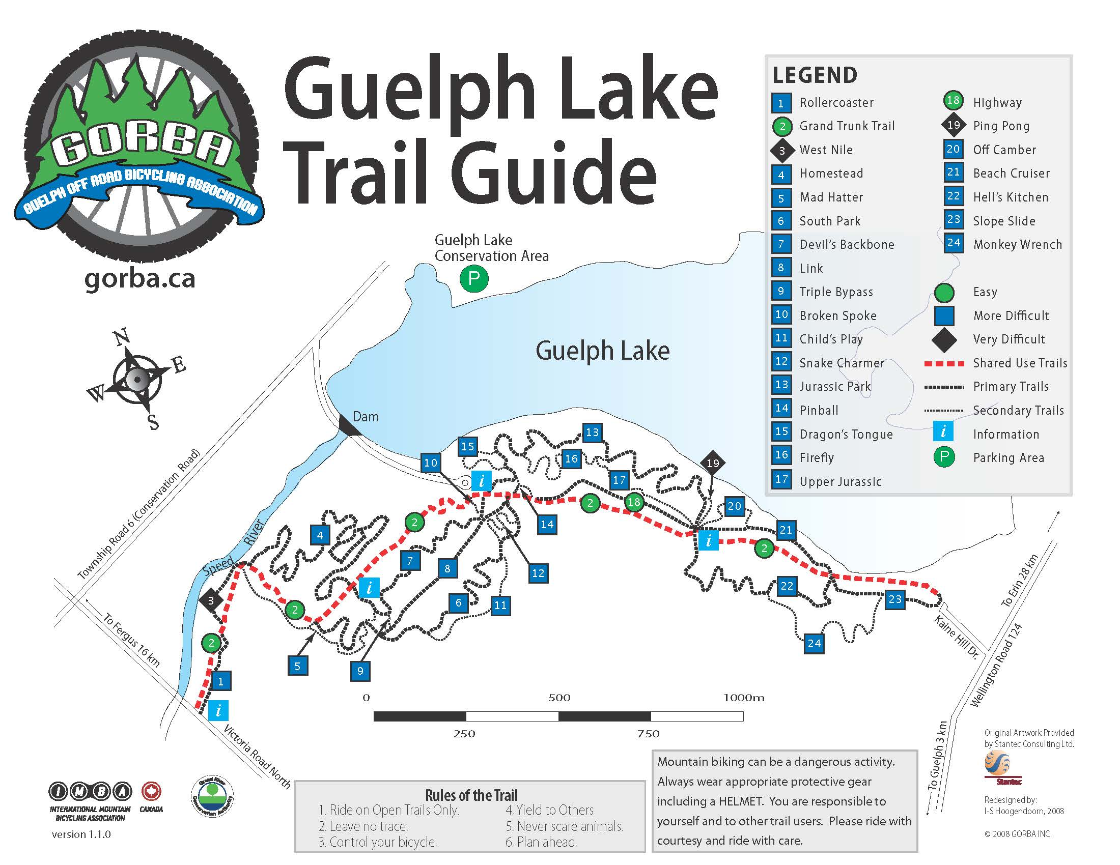 Guelph Off Road Bicycling Association GORBA Trail Map